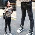 2015 зима теплая толстые дети джинсы кисточкой девушки джинсы ватки девушки детские брюки толстые джинсовые брюки для девочек 3-8Y