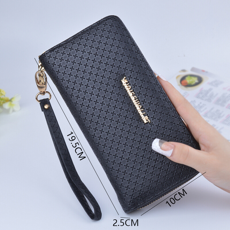 Black Fashion Wallet Women Long Ladies Korean Zipper Ladies Wallets Card Holder Female Coin Purses PU Leather Women Purse QL 1