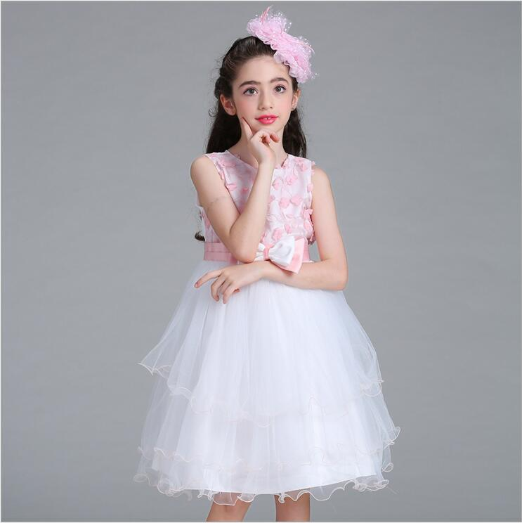 Girls summer floral dress princess Flower Wedding Dress Girl Party Wear Kids Clothes Children Costume For Girl Prom Gown Designs flower princess dress girl clothing for girls clothes dresses casual wear school kids party dress summer children costume 3 8 t