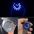 1 шт. Стальная полоса круг мяч световой стеклянное зеркало часы персонализированные светодиодные электронные мужчины спортивные Цифровые Наручные Часы симпатичные H4