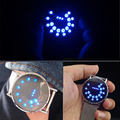 1pc Steel strip circle ball luminous glass mirror watches personalized led electronic men sports Digital Wristwatches cute H4