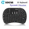 Versão Original Russo Inglês Hebraico i8 i8 + 2.4 GHz Teclado Sem Fio Air Mouse Touchpad Handheld para BOX TV Android Mini PC
