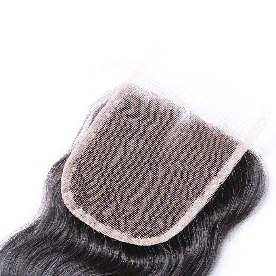 Peruvian Human Hair Closure Body Wave Middle Part