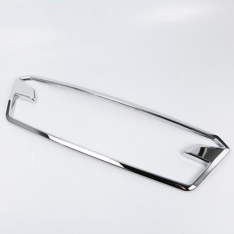 Pour SUBARU XV 2018 1 PC ABS Chrome Grille avant de voiture couvercle décoratif garniture voiture style Auto accessoires