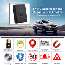 Vehicle tracker TK915 Waterproof GPS Locator Strong Magnet Car GPS Tracker 10000mah Car Lawn mower GPS Tracking Device Free APP cheap 30 Hours Up Remote Control 112 * 78 *28MM YANHUI Global GSM GPRS GPS 300g Changeable 3 7V 10000mAh Li-ion battery Car charger (12-24 input ) Wall charger (110-220 input) 5V-1A output