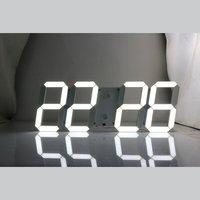 LED Mirror Alarm Clock Digital Remote Control Wake Up Light Hollow Remote