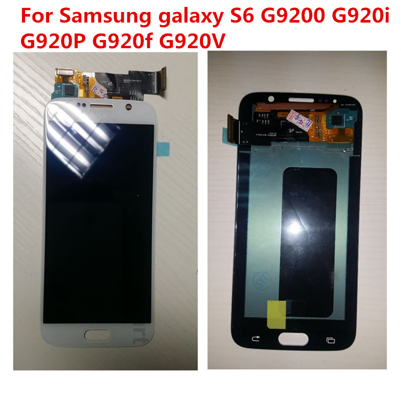 LCD Digitizer Full Assembly For Samsung galaxy S6 G9200 G920i G920P G920f G920V Touch Lcd screen Display DHL 2PCS