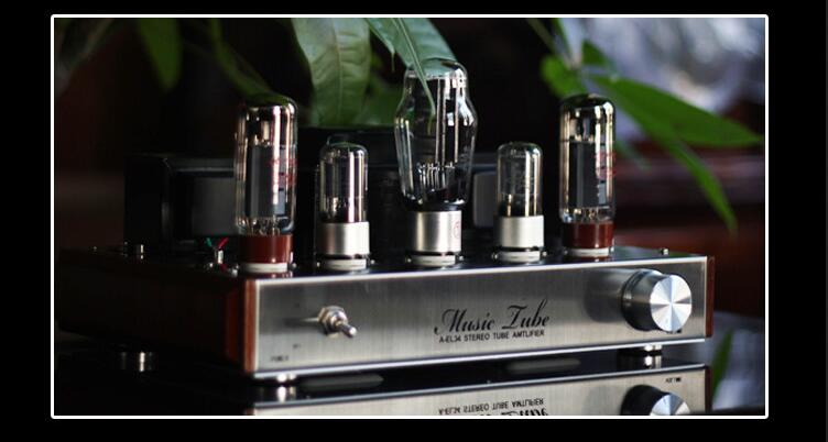 6N9P+EL34+5Z4P Audio Class A EL34 Single-ended Vacuum Tube Amplifier HiFi 2.0 Channel Stereo Power Amp 8Wx2