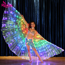 Ruoru Led Isis Wings for Kids Children Child Rainbow Color Girls Belly Dance Stage Performance Wear Butterfly