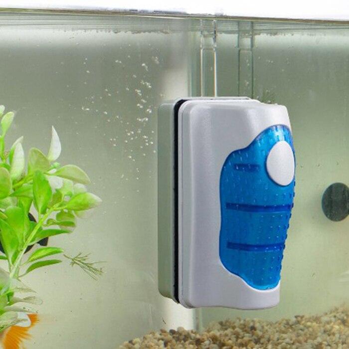 Магнитная Щетка с скребками практичная плавающая аквариумная рыболовная аквариумная ультра-стеклянная изогнутая щетка для очистки водоро...