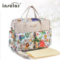 Лидер продаж! Прекрасный Разноцветные детские пеленки мешок большой емкости модная матери для беременных сумка для коляски подгузник сумк...
