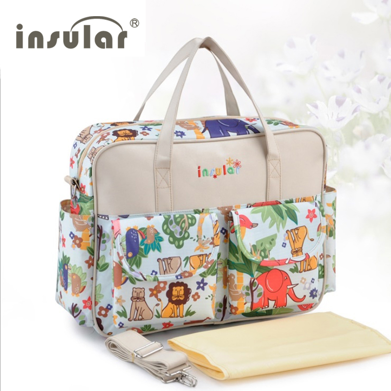 Hot ! Multicolored Baby Diaper Bag Large-capacity Fashionable Mother's Maternity bag  Baby Stroller Nappy Bag Mummy Bag