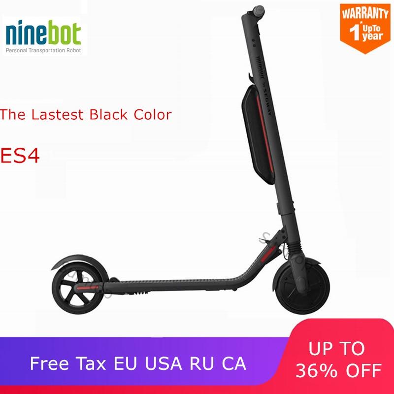 Ninebot KickScooter ES4/ES2 Inteligente Scooter Elétrico dobrável e leve bordo skate hoverboard V1.3 Versão Cor Preta
