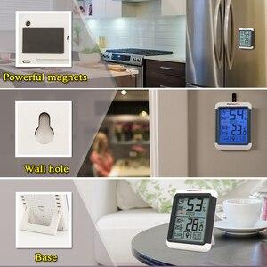 Image 4 - Thermopro TP55 デジタル温度計湿度計屋内屋外の温度計タッチスクリーンとバックライト温度湿度