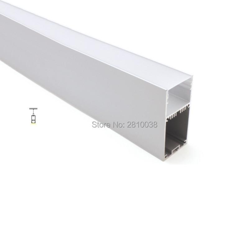 conjuntos 50x2 m lot aluminio levou perfil luz linear luz profunda u forma led carcaca de