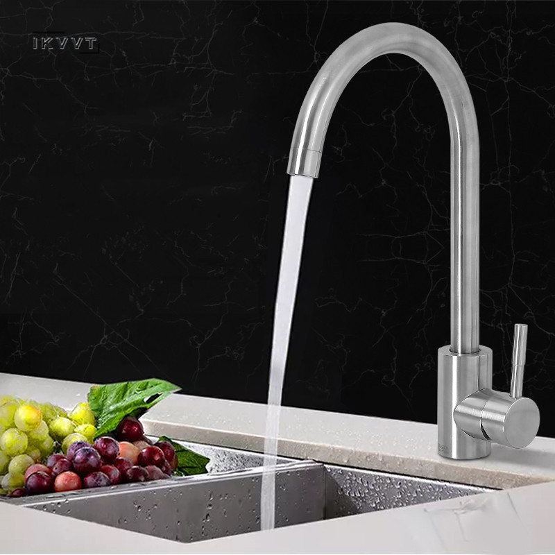 Kitchen Sink Faucet Mixer Cold and Hot Single Handle Swivel Spout Kitchen Water Sink Mixer Tap Faucets Dropshipping  Kitchen