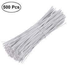 BESTOYARD 500pcs 15cm Plastic Coated Iron Wire Twist Ties Cable Wrap Organizer Ties