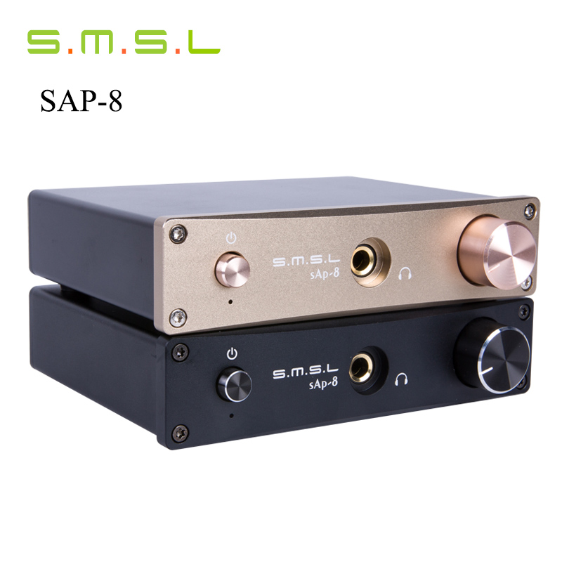 цена на 2017 New Turntable Headphone Amplifier SMSL Sap-8 CNC CNC Desktop Hifi Home Stereo Class-a Amplifier Amplificador Auriculares