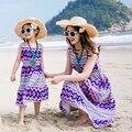 Praia da família conjunto de estilo boêmio fora do ombro vestido de mãe e filha vestidos de mãe e filha roupas família clothing verão gs8