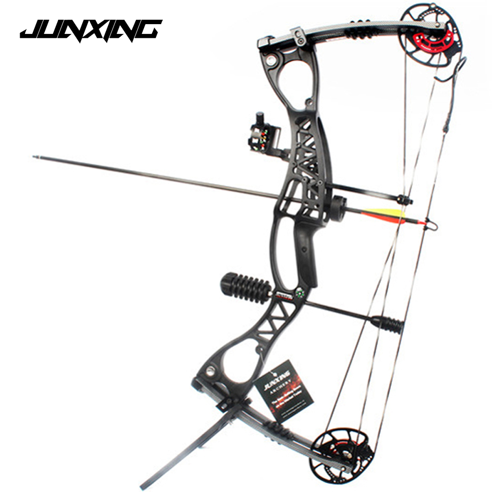 M122 Compound Bow With 40-70 lbs Draw Weight Archery Set for Competition Practice Target Outdoor Hunting Shooting Archery new 34 inches children compound bow draw weight 15lbs black fiberglass handle for archery practice competition game shooting