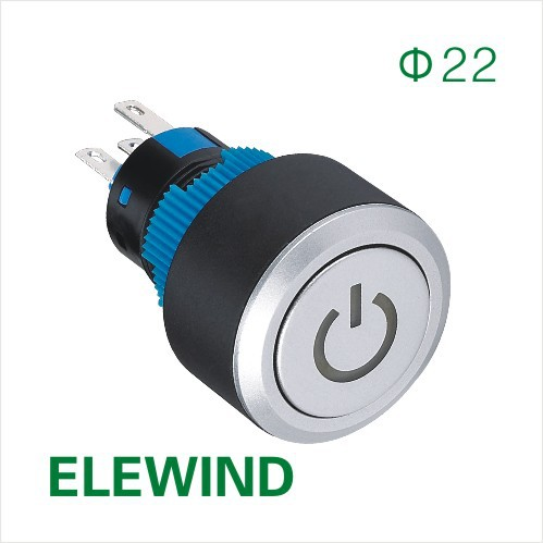 ELEWIND 22mm Round illuminated Power symbol Latching push button switch (PB223WY-11ZT/B/12V/IP65) 2017 new mini shoulder messenger bag famous brand luxury elegant bead evening bag clutch pearl handbag bride bags for wedding