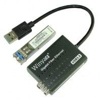 USB 3,0 до 1000 Мбит/с Gigabit Ethernet LAN волоконно оптическая сетевая карта Realtek RTL8153 с оптический sfp модуль Черный
