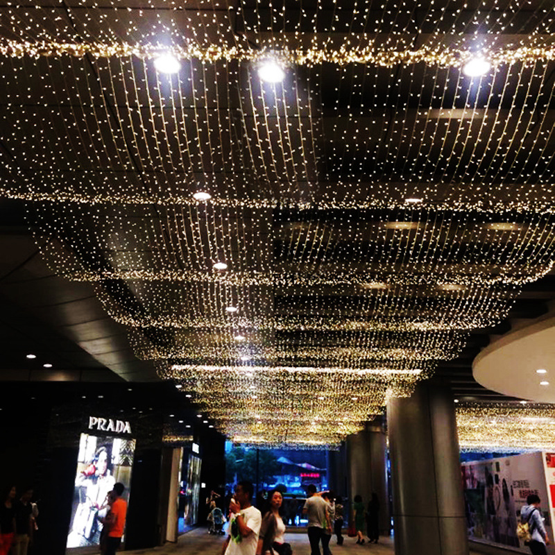10 meters male mother inserts the tail to insert the LED lamp waterproof decoration lamp the sky star. the good mother