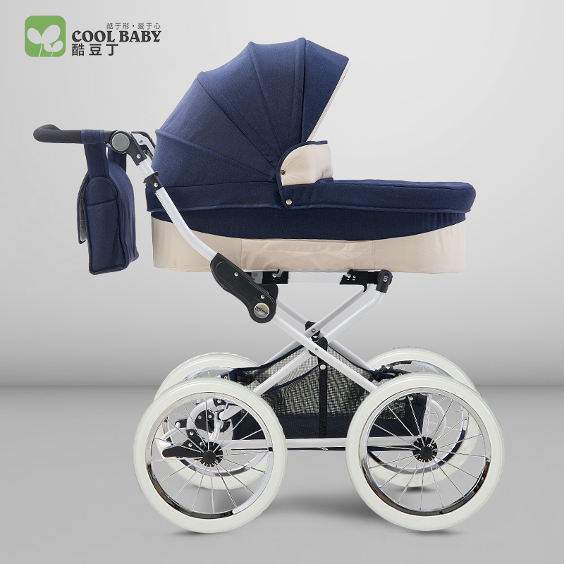Coolbaby European Royal Baby Stroller Two Way Shock Proof