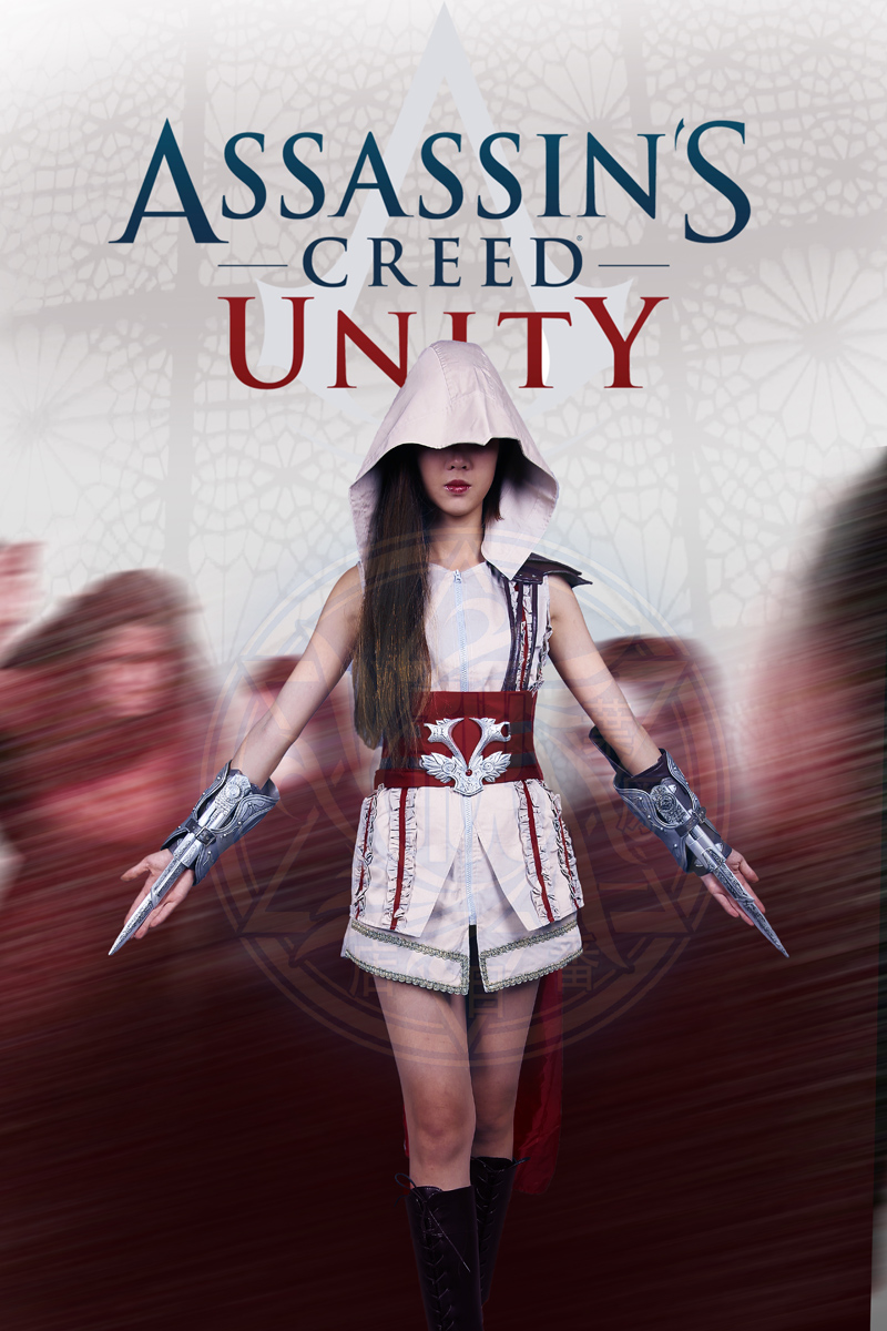 Assassins Creed II Ezio Female Unifrom Cosplay Costume