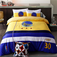 KELUO Hot Sale Football Bedding Sets Bed In A Bag With Duvet Cover Flat Sheet And