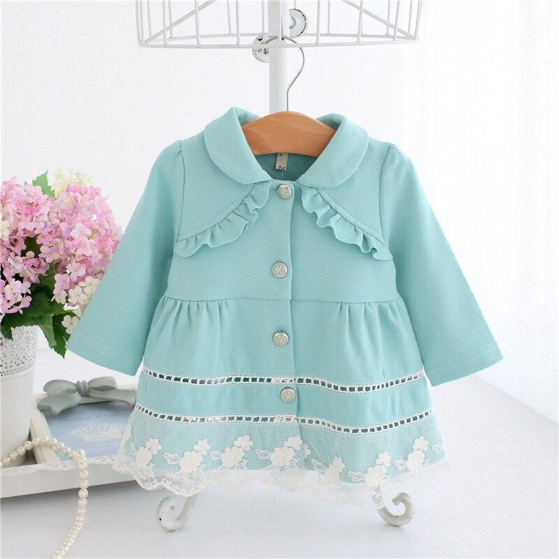 9822cba3c 2017 Spring and autumn baby girl clothes long-sleeve Peter Pan collar  princess baby dress girl dress ball gown 0-2T. 1)ATTN