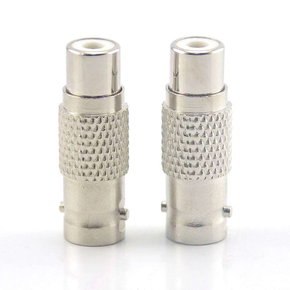 10Pcs Bnc Rca Connectors Rca Female To  Rca Connector Female To Bnc Connectors Femaler Cctv Audio Video Camera A7