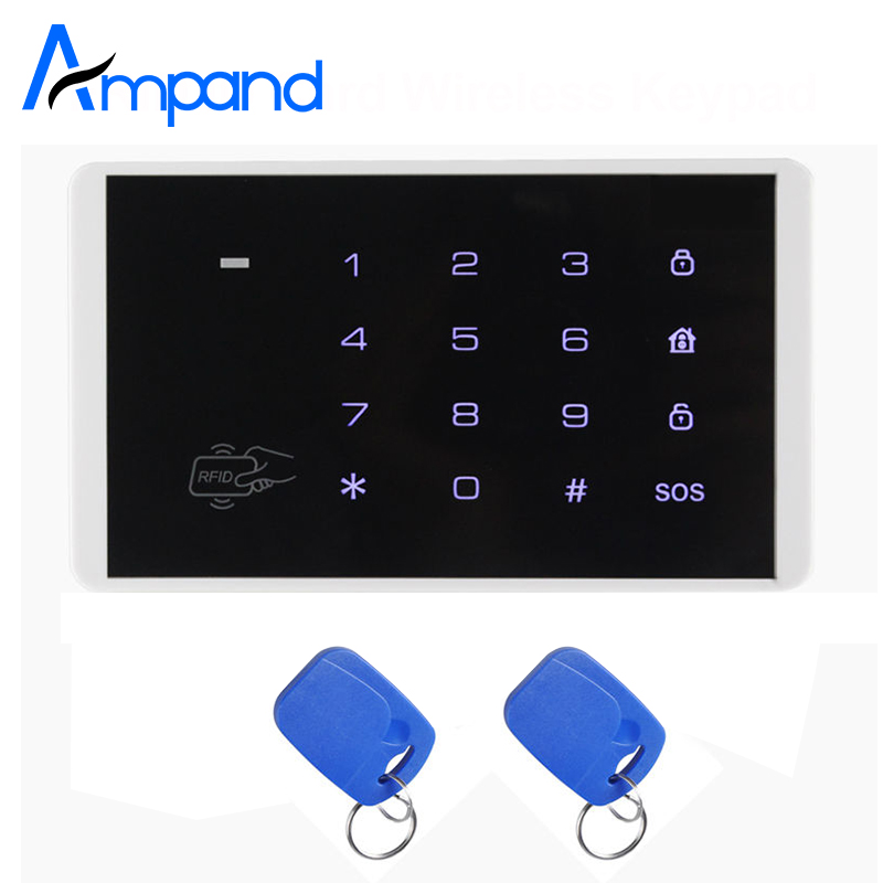 K16 RFID Touch Keypad For Wireless GSM Alarm System Access control