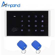 K16 RFID сенсорной клавиатурой для Беспроводной GSM сигнализация контроля доступа