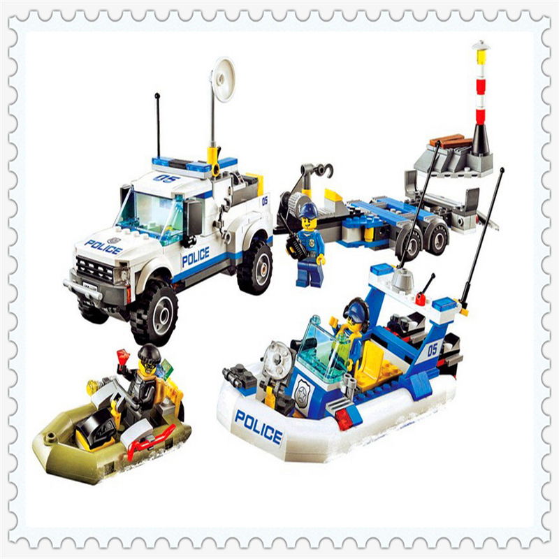 BELA 10421 City Police Patrol Car Building Block 409Pcs DIY Educational  Toys For Children Compatible Legoe jie star police pickup truck 3 kinds deformations city police building block toys for children boys diy police block toy 20026