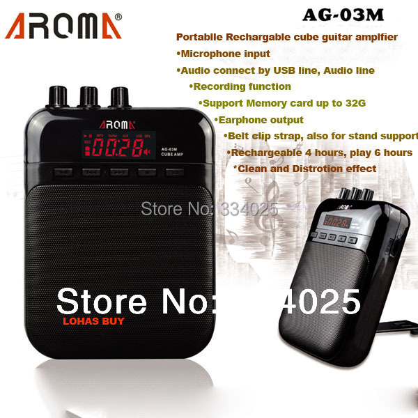 Aroma Mini Electric Guitar Amp Amplifier 5V 3W portable guitarra amplificador