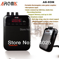 Free Shippping 5V3W Portable Recharge Mini Cube Electrical Guitar Amplifier Guitar Tune Song Recorder Audio Speaker