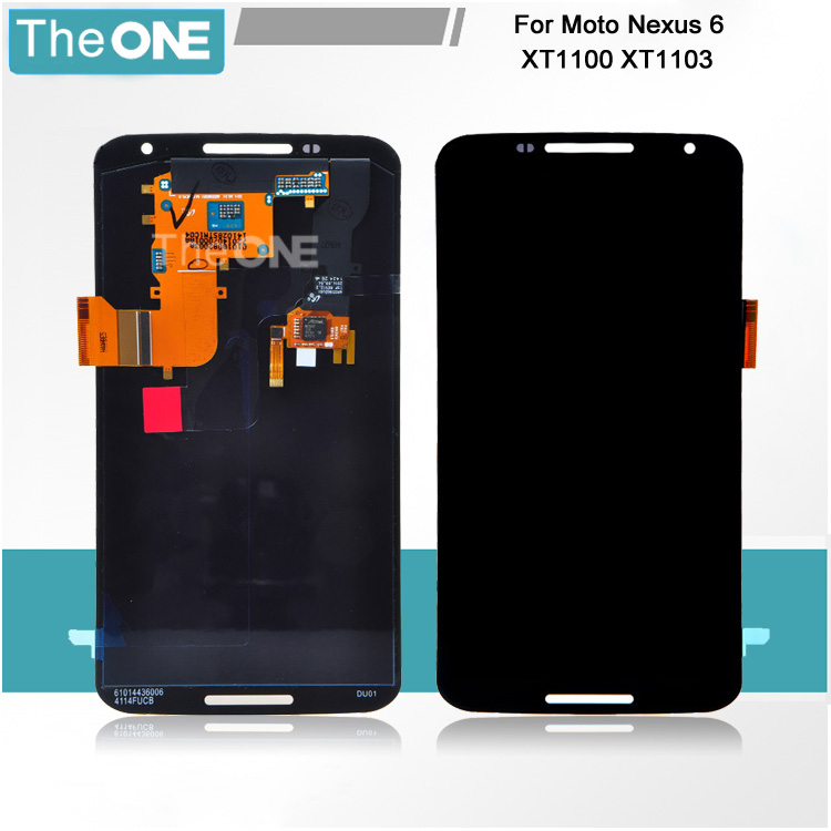 Free DHL Lcd display +touch digitizer screen replacement for Motorola Moto Google Nexus 6 XT1100 XT1103 assembly 2016 sale rushed 10pcs free dhl ems for motorola moto xt1254 touch digitizer lcd display 100