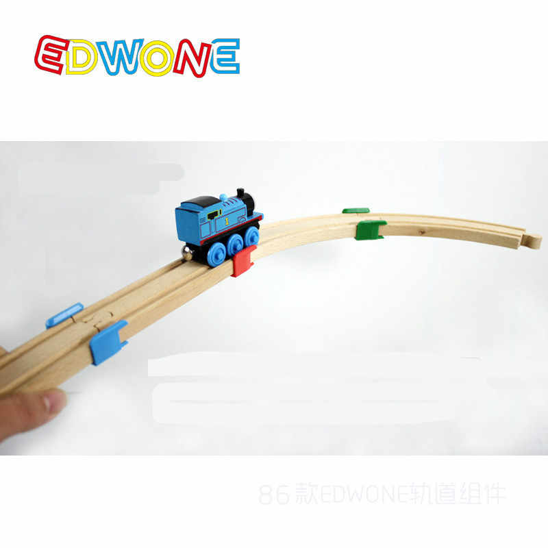 2019 Hot Sale Wooden Train Track Railway Accessories --The Wooden Track Plastic Holder Tight Wood Tracks Toys