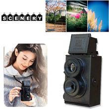 Cewaal Fashion Black DIY Twin Lens Reflex Lomo Film Camera Kit Classic Hobby Photo Toy