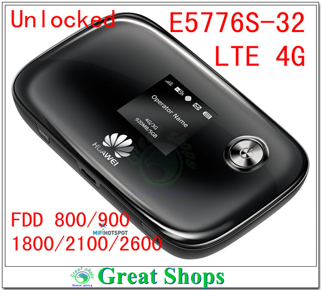 все цены на  Unlocked Huawei E5776s-32 lte 3g 4g Wifi Router 4g mifi pocket 4g dongle Mobile Hotspot pk E5776 E5372 EC5377 E589 e5577 e5377  онлайн