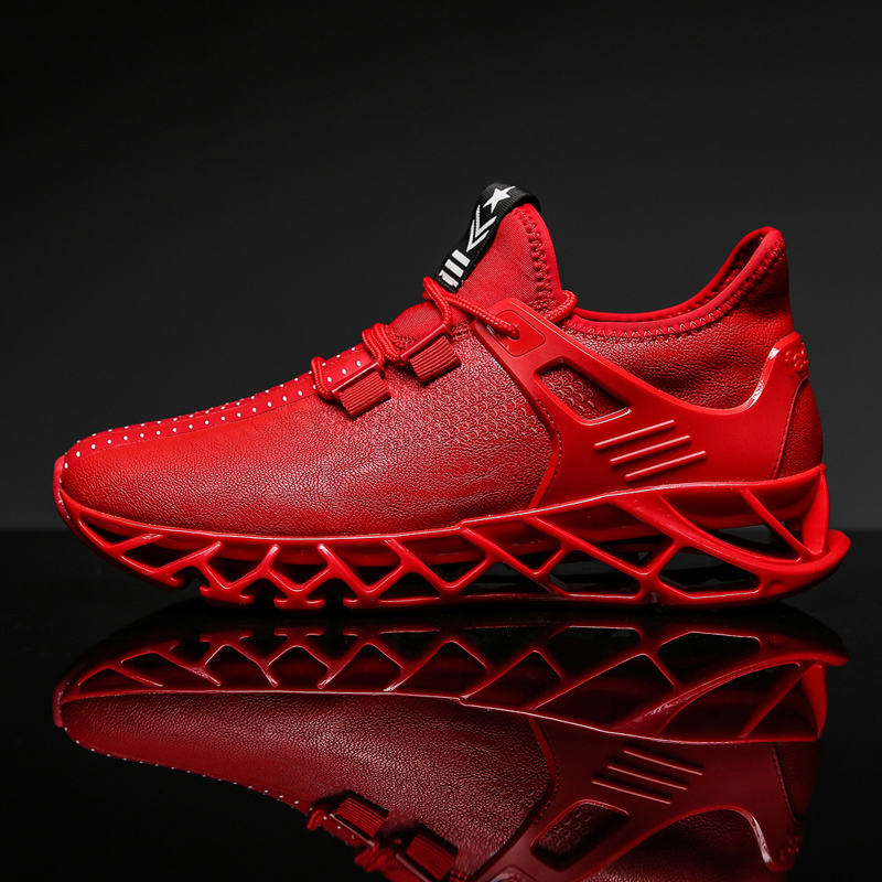 Super Popular Men Running Shoes Breathable Men Sneakers Bounce Sports Shoes Blade Jogging Walking Athletic Shoes