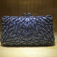 Red Diamond Handbag Student Prom Purse Women Crystal Banquet Clutches Evening Bags Wedding Cocktail Prom Clutch