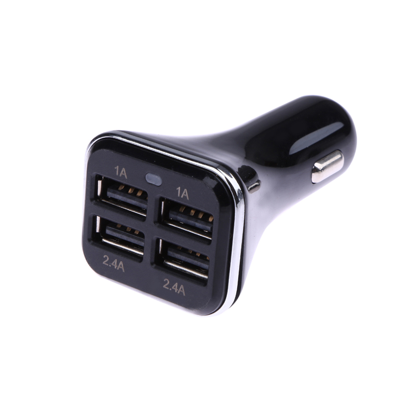 Universal 4 Port-6.8A Universal USB Dual Car Charger Adapter For Mobile Phone PC Game Console