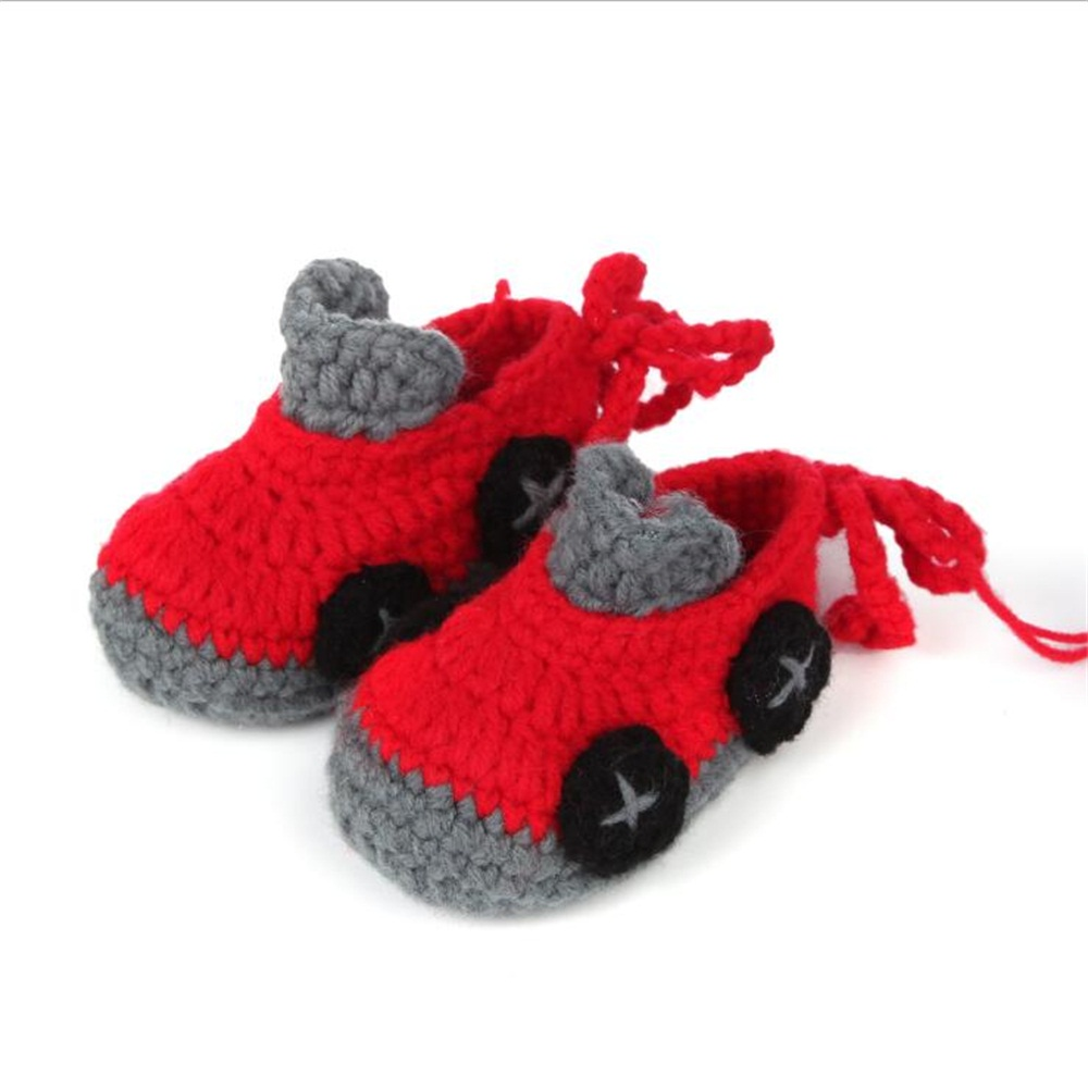 Soft First Walkers Knitted Crochet Baby Shoes Wool Photography Handmade Shoes Props For Newborn Boys Girls Unisex