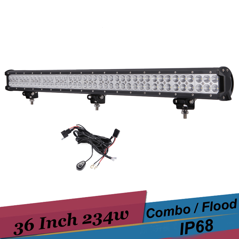 234W LED 4X4 Offroad Light Bar 36 Inch Car LED 12v 24v SUV 4WD Truck Trailer AWD UTE Car Boat Driving Light Headlight Spot Combo 9 inch osram chips 90w offroad led work light bar spot flood combo car truck trailer suv boat pickup 4wd 4x4 12v 24v headlight
