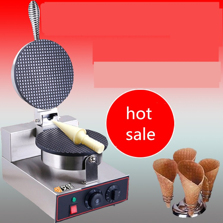 2017 NEW ice cream cone baking machine,single head  crispy Waffle Maker,Cake Maker,220V/110V egg roll skin waffle maker chinese single round pan rolled ice cream machine fried ice cream roll machine with 6 barrels