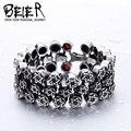 BEIER Cool Unique Heavy Metal start Bracelet Stainless Steel High Quality Biker Punk Charm Bracelet BC8-013