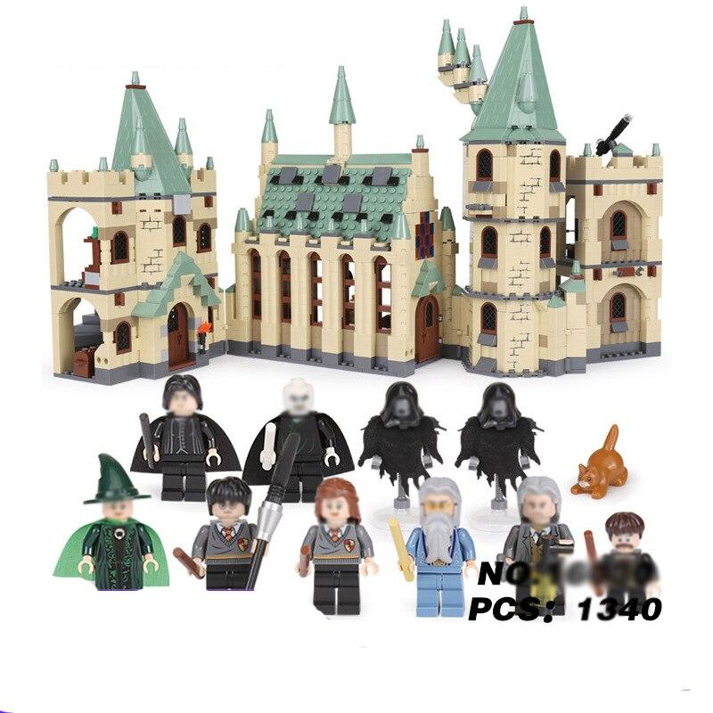Хогвартс замок Legoings подходит для LegoINGS Гарри Поттер 4842 фильм фигурку Конструкторы модель здания кирпичи игрушечные лошадки детей
