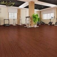 beibehang PVC flooring plastic floor leather home thicke wear resistant waterproof bedroom self adhesive floor sticker wallpaper
